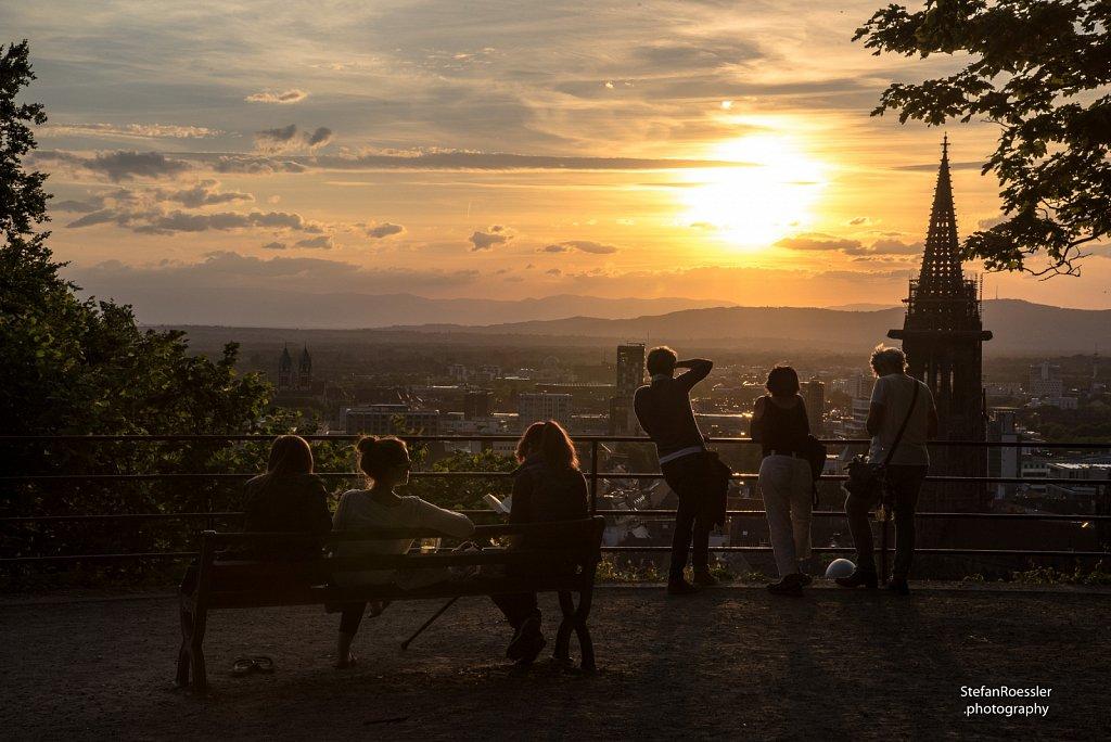 Auf dem Schlossberg in Freiburg